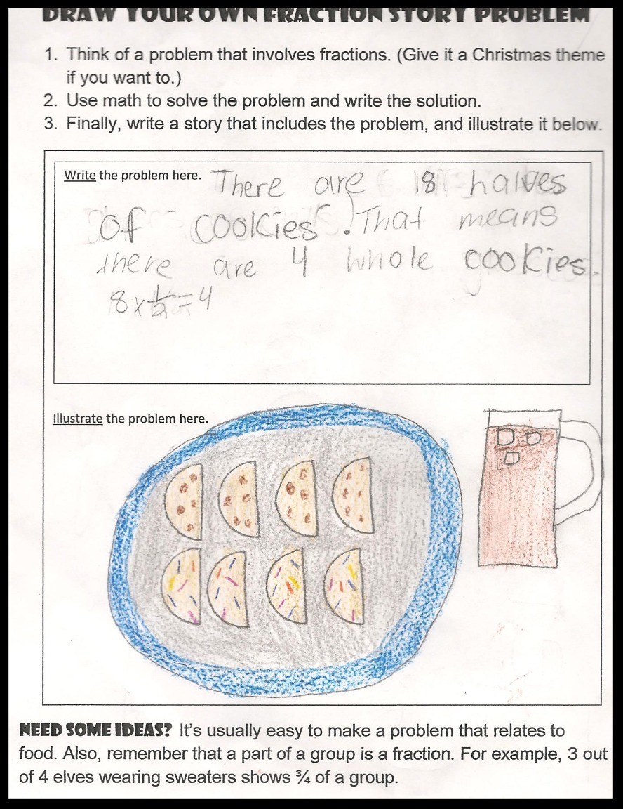 Fraction Story Student Example