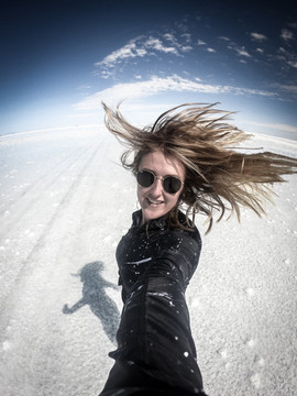 Spinning around the Salt Flats, Uyuni, Bolivia