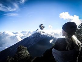 Fuego Erupts. Acatenengo Hike - Antigua, Guatemala