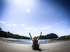 A private beach. Manuel Antonio National Park, Costa Rica