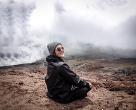 I climbed a mountain. Ecuador