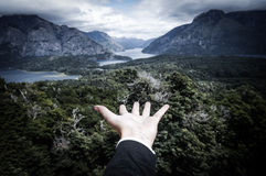 The world in your hand. Bariloche, Patagonia