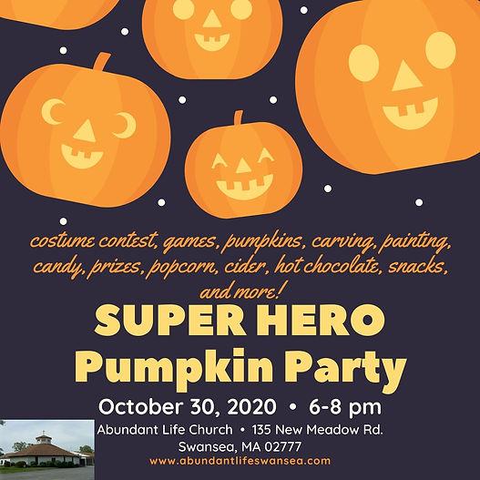 Purple Orange Pumpkin Carving Party Invi