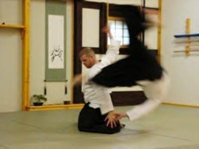 Robert Schmitt (Joliet, Illinois) executes a Martial Arts technique (Yamate-ryū Aikijutsu handachi-waza).