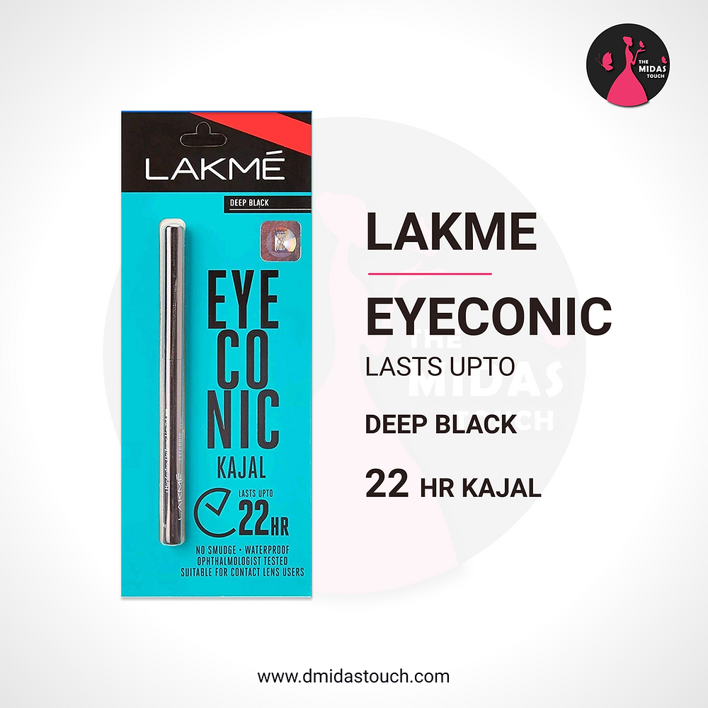 Lakme Eyeconic Lasta Upto Deep Black - 22 hr Kajal Review - D Midas Touch