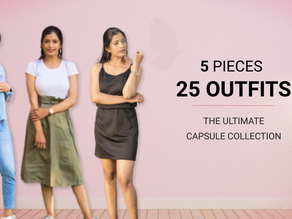 25 outfits from 5 pieces - Small wardrobe hacks! - Quarantine Edition