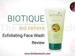 Biotique Bio Papaya Exfoliating Face Wash Review