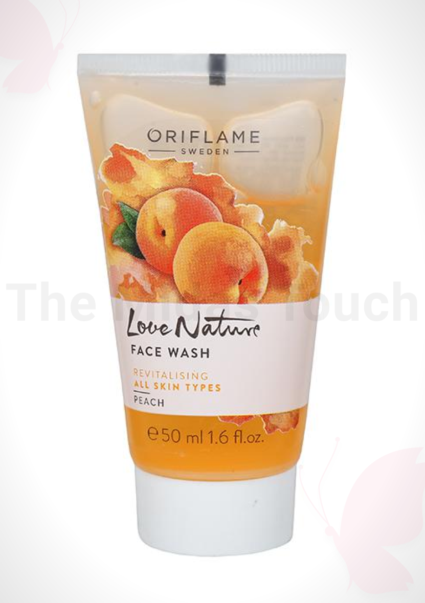 Oriflame Sweden Love Nature Face Wash – Peach  Review - 2020 - Tasmiya Shaikh