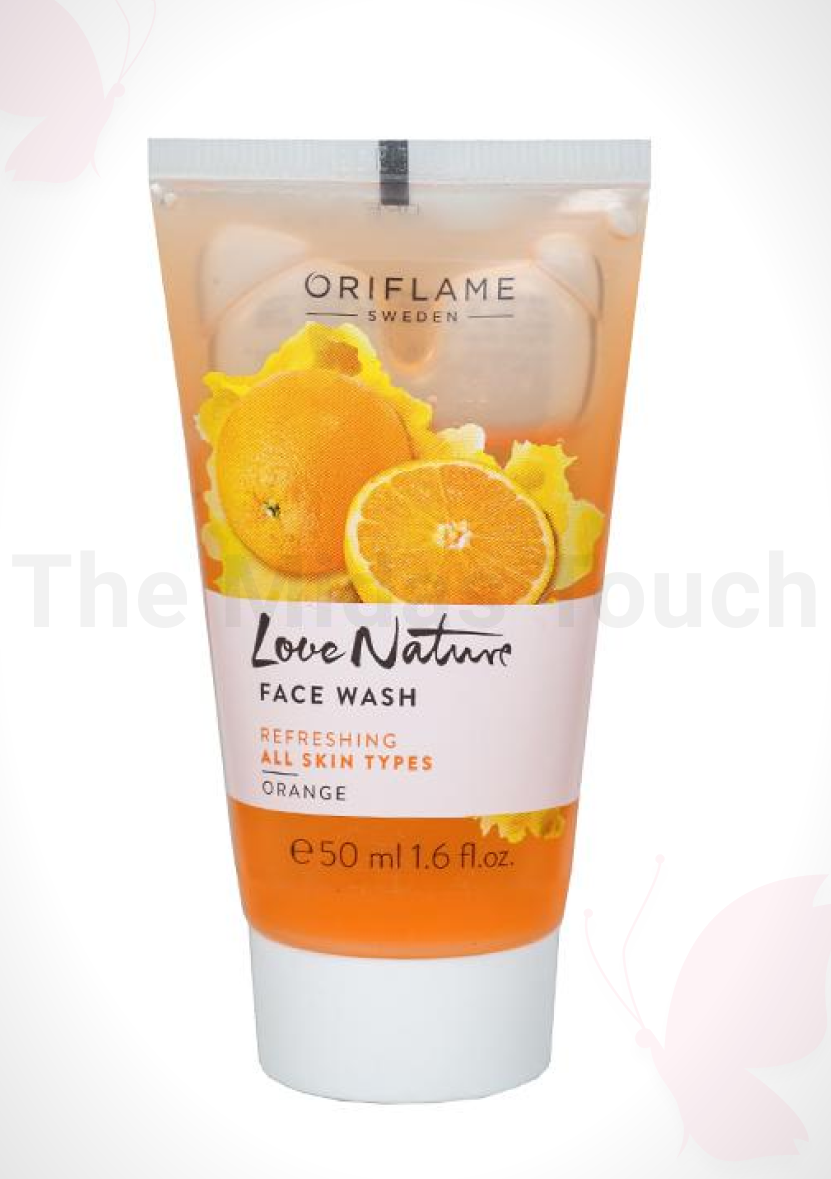 Oriflame Love Nature Face Wash – Orange Review - D Midas Touch - 2020