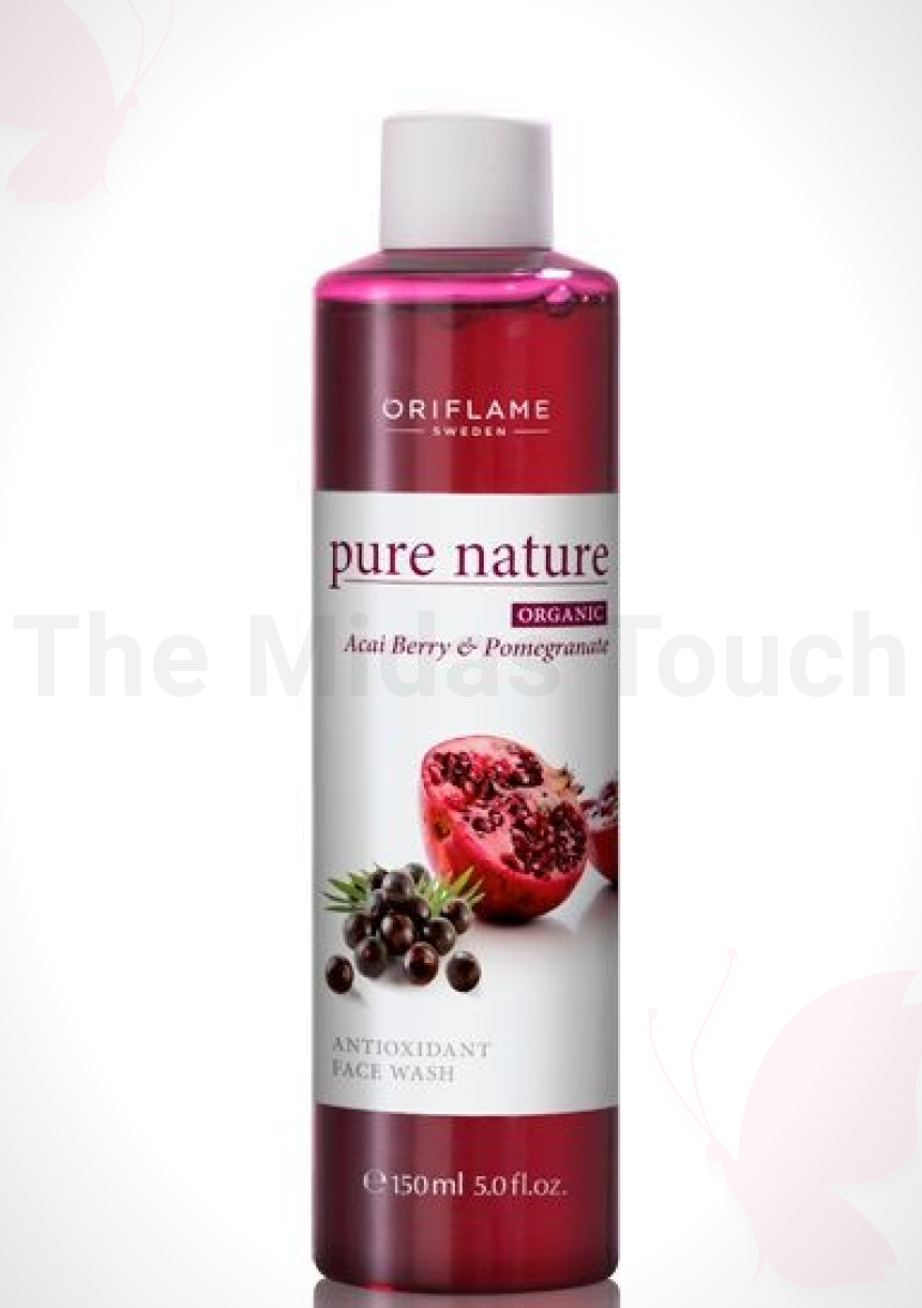 Oriflame Pure Nature Organic Açai and Pomegranate Antioxidant Face Wash Review - D Midas Touch - 2020