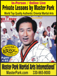 Private Lessons by Master Park: World Top Quality Authentic Oriental Martial arts.