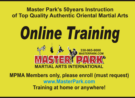 In Person and Master Park On-line Live Martial Arts Training