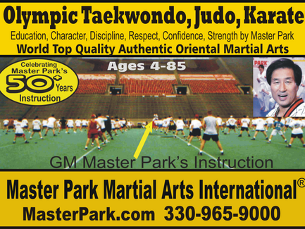 Olympic Taekwondo, Judo, Karate Programs by Master Park.