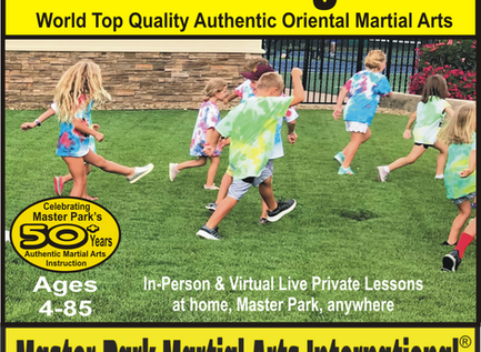 Summer Programs by Master Park Martial Arts: Fun, Discipline, Respect, Confidence, Health, Empower