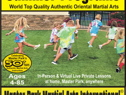 Summer Programs by Master Park Martial Arts: Fun, Discipline, Respect, Confidence, Health, Empower