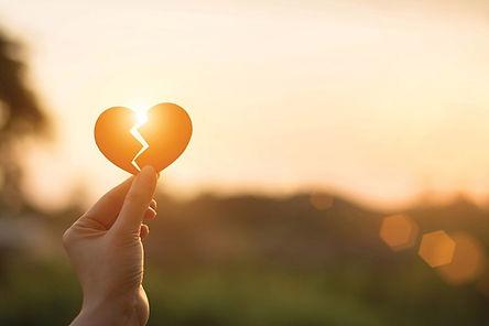 sun shining through a broken heart