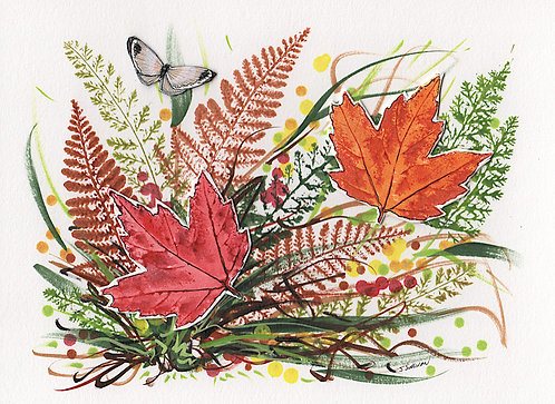 Fall - Two Maple Leaves