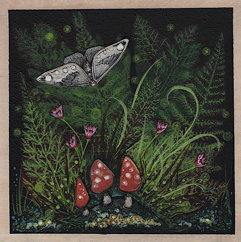 Woodland - Forest Floor (Moth and Mushrooms)