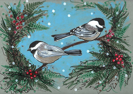 Original Artwork - Black-capped Chickadee