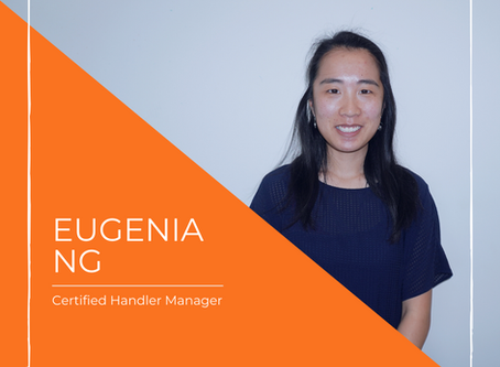 Meet Eugenia our Certified Handler Manager