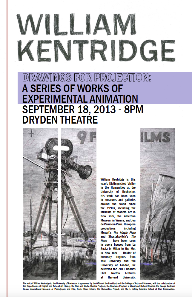 William Kentridge poster, 2013