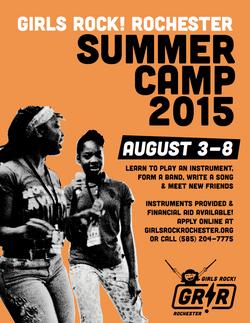 GR!R Summer Camp flier, 2015