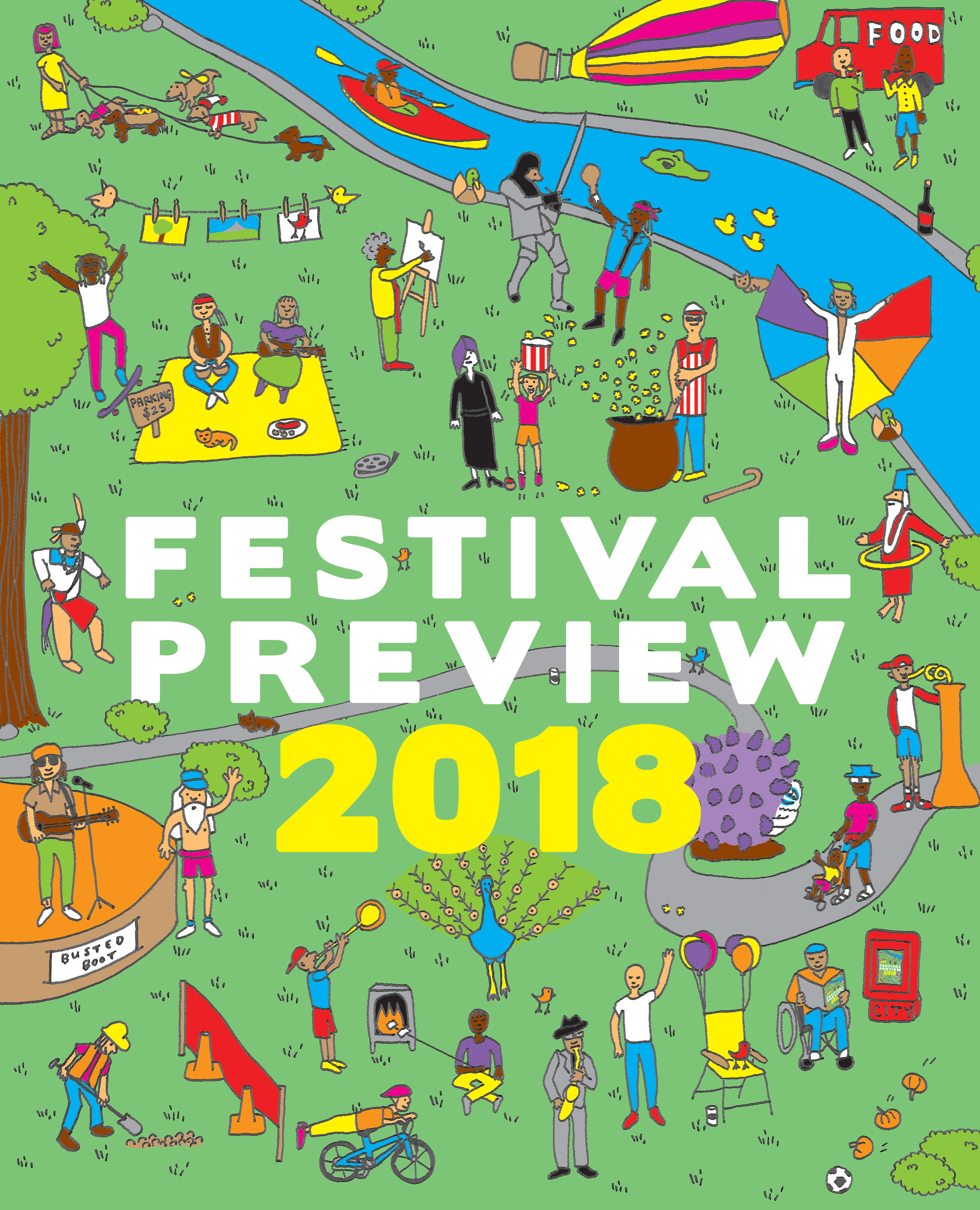 Festival Preview cover, 2018