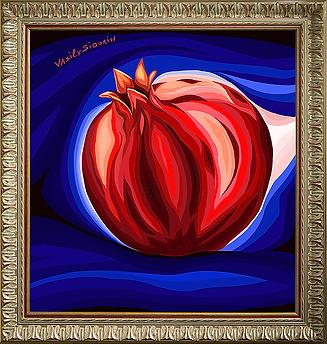 Гранат | still life | натюрморт | Василий Сидорин | VASILY SIDORIN | sidorin.info | Artmagic