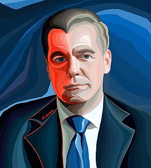 Медведев   Medvedev   Премьер    Василий Сидорин   VASILY SIDORIN   sidorin.info   Artmagic