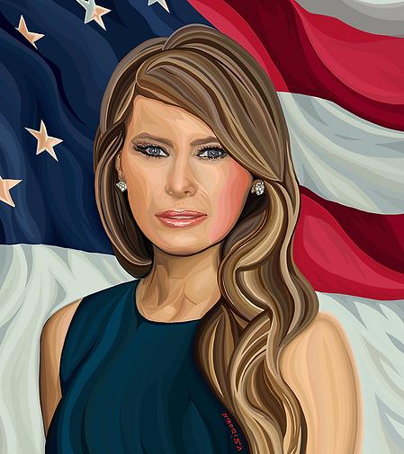 Мелания Трамп   Melania Trump   price   цены    Василий Сидорин   VASILY SIDORIN   sidorin.info   Artmagic