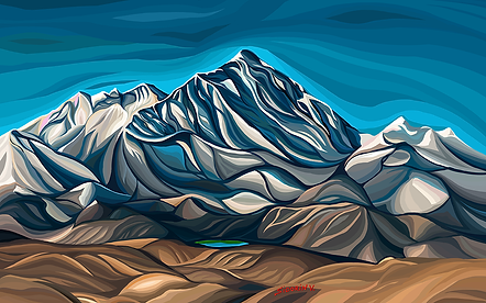 Эверест | Василий Сидорин | VASILY SIDORIN | картина маслом | sidorin.info | Artmagic