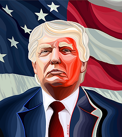 Трамп | Василий Сидорин | VASILY SIDORIN | картина маслом | sidorin.info | Artmagic