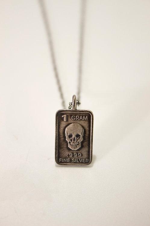 Fine Silver Bullion Necklacen -Antiqued