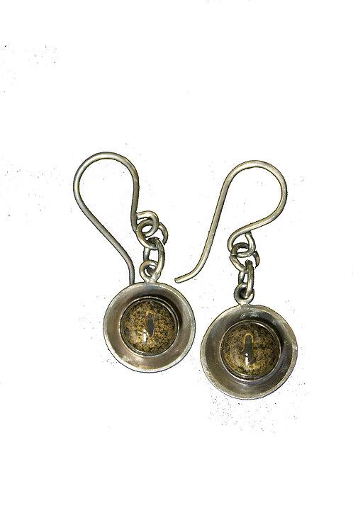 Taxidermy Glass Eye Earrings (Snake)