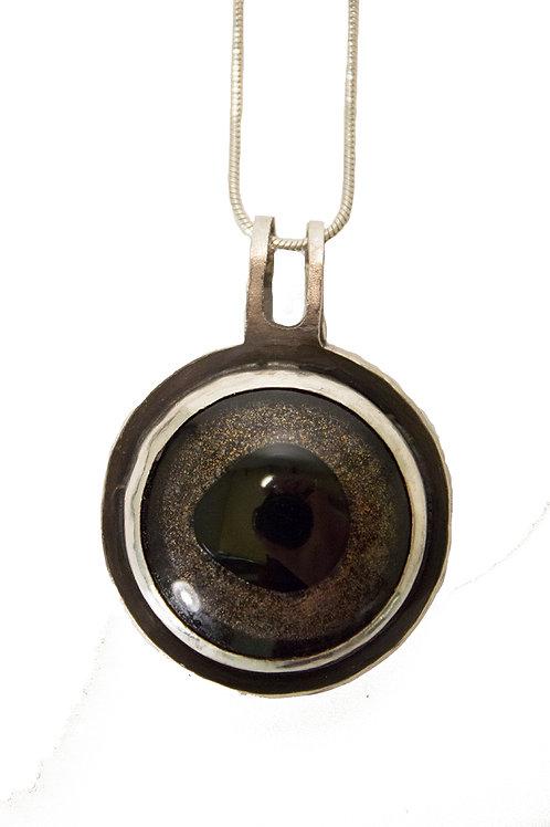 Taxidermy Eye Necklace
