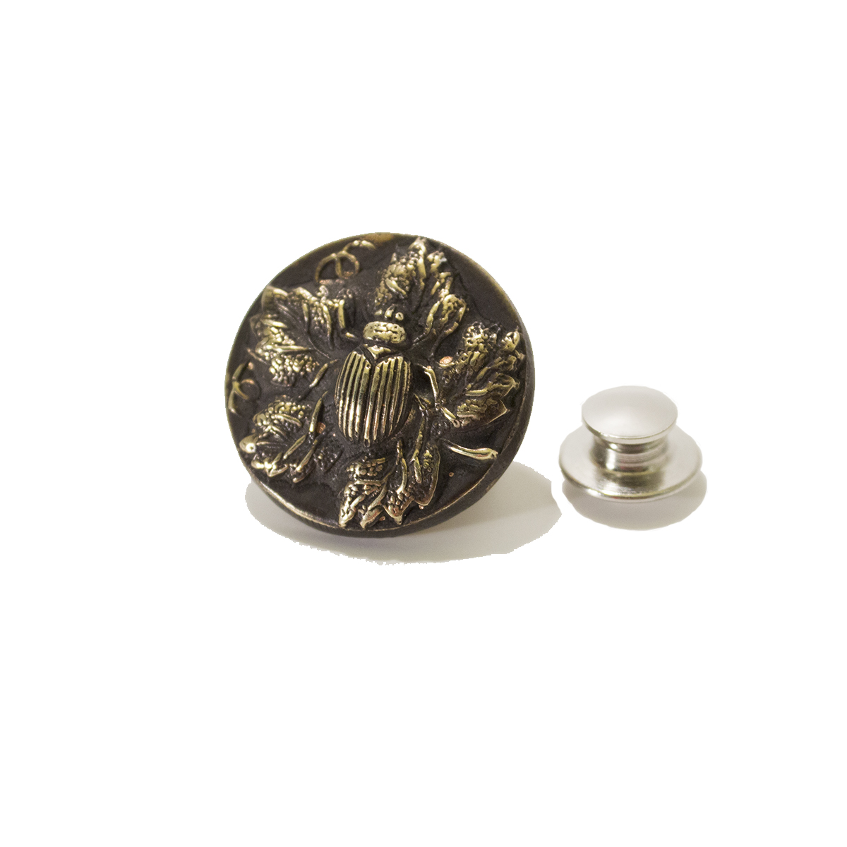 beetle button tie tack