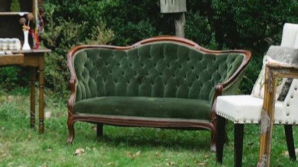 Green Victorian Settee