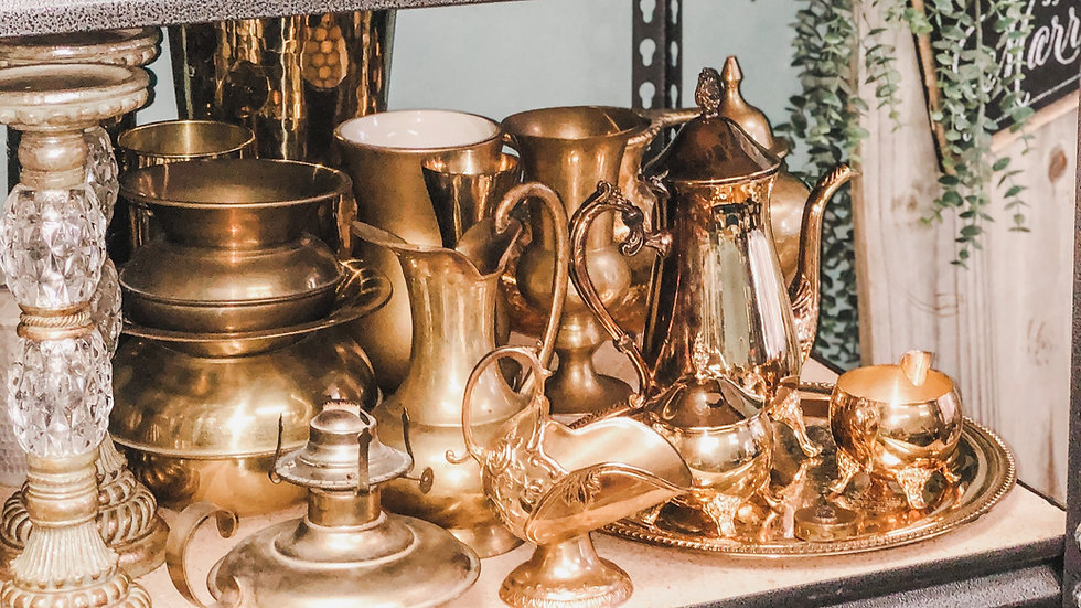 Brass and Gold Vessels