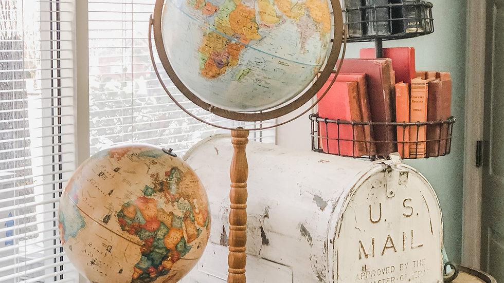 Tall Vintage Globe