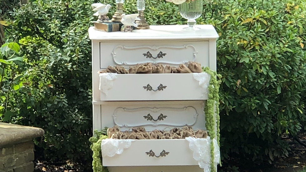 White French Provincial Chest of Drawers