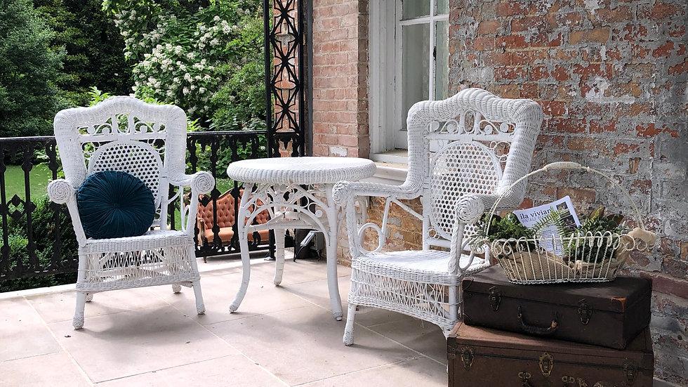 White Wicker Chairs