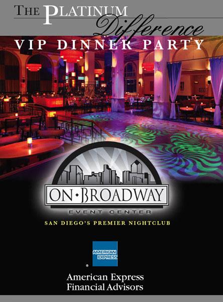 AMEX VIP dinner invite cover