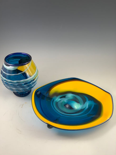 Blue Yellow Rondel and vase .jpg