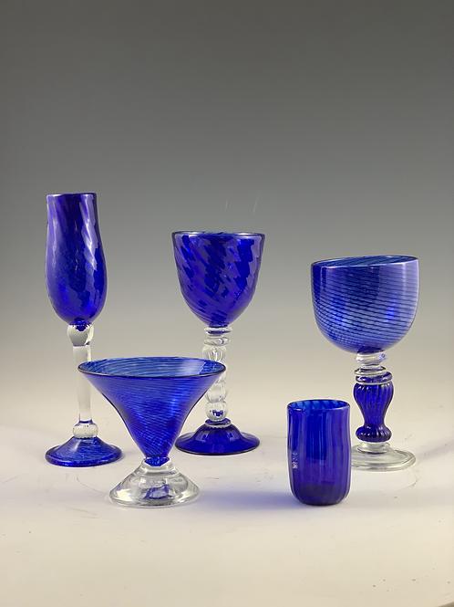 Cobalt Glassware Single Set