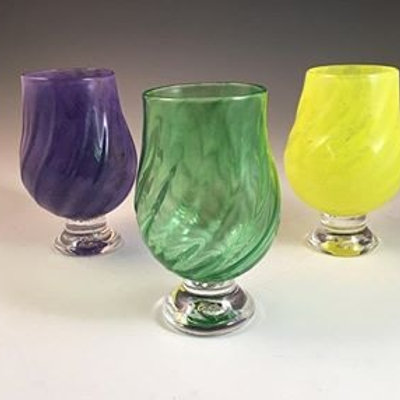 Mardi Gras Glass Tumbler Set