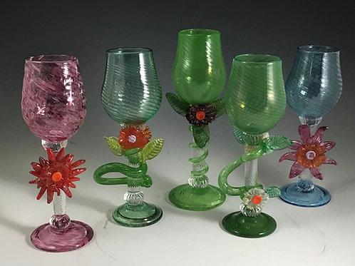 Decorative  Glass Goblets