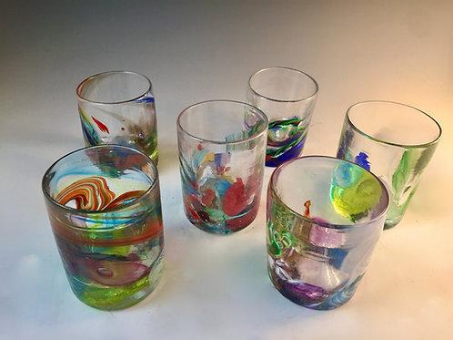 Kaleidoscope Whiskey Glass