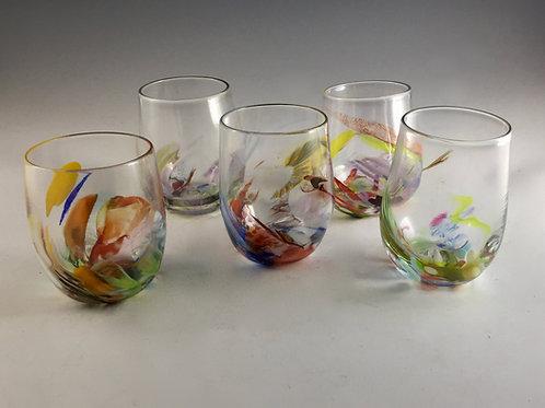 Kaleidoscope Stemless Wine Glass