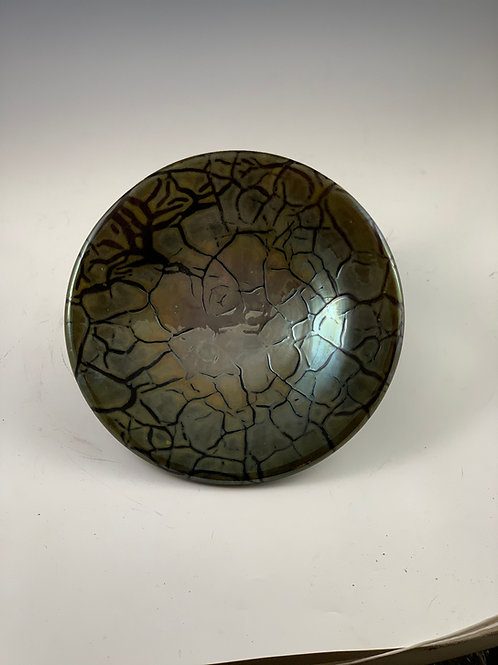Crackle Shallow Bowl
