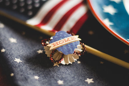 Fourth of July Pin